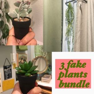 Other - 3 Fake Plants Bundle 🌱